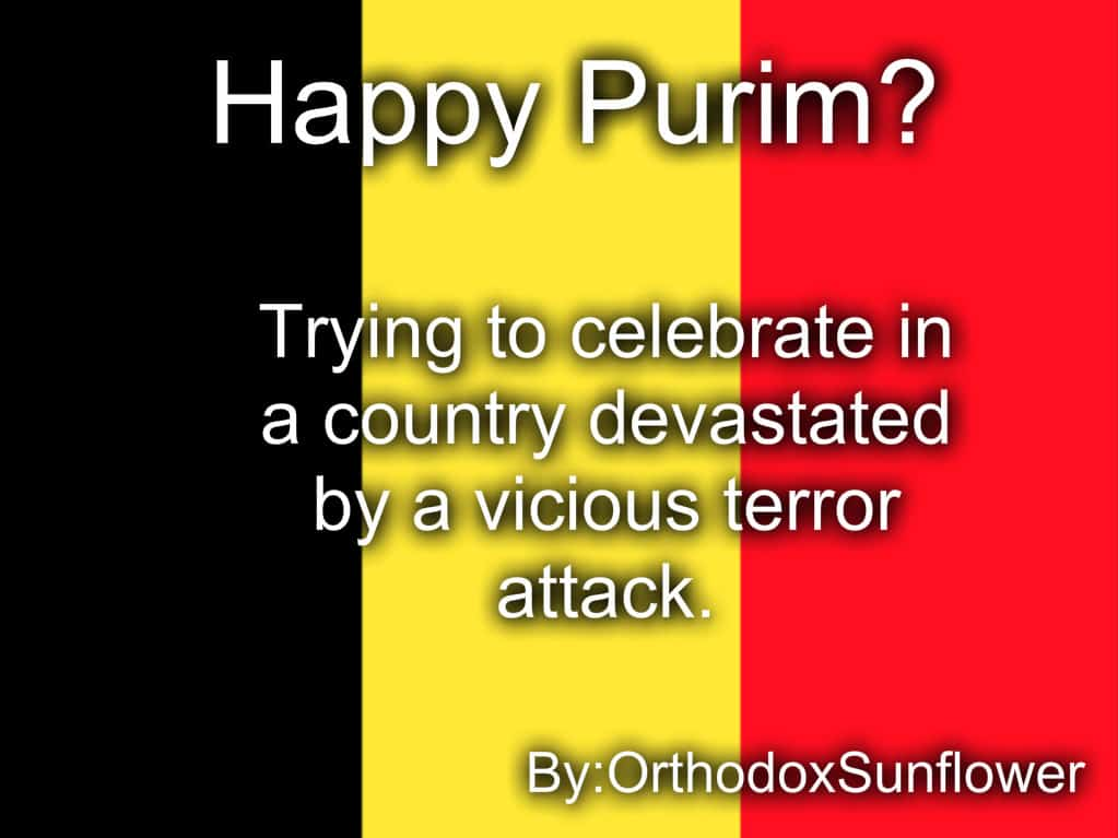 What's it like celebrating Purim in a country devastated by a vicious terror attack